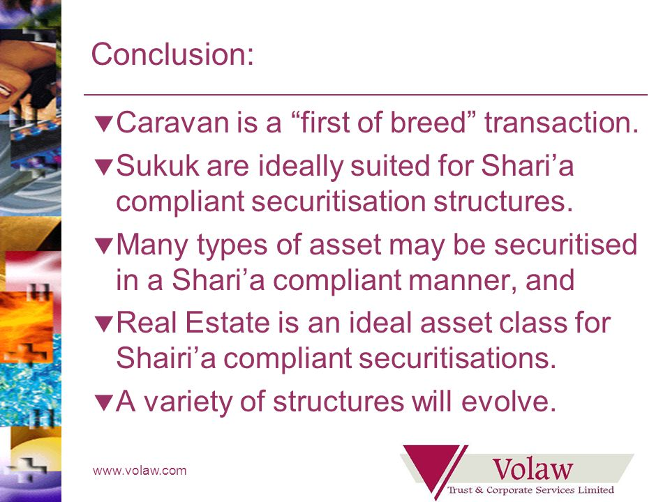 www.volaw.com Conclusion: Caravan is a first of breed transaction.
