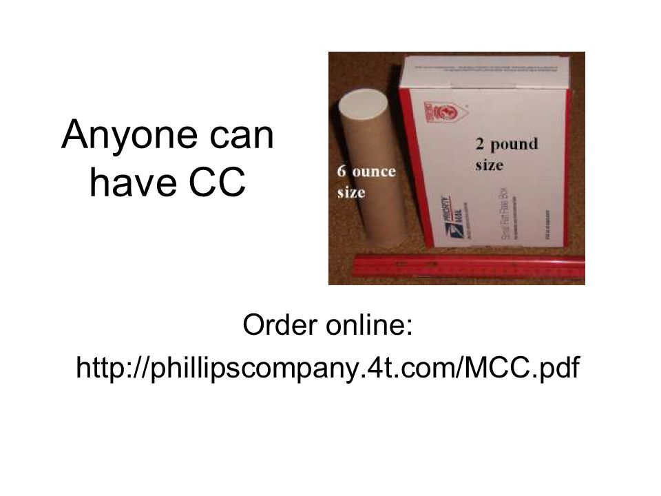 Anyone can have CC Order online: