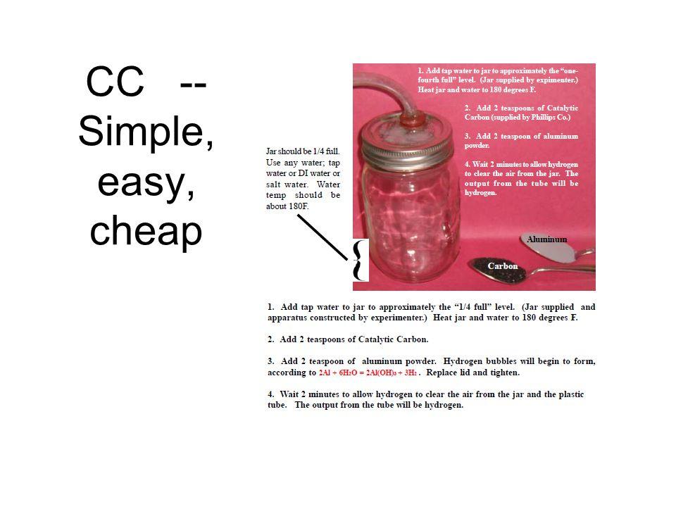 CC -- Simple, easy, cheap