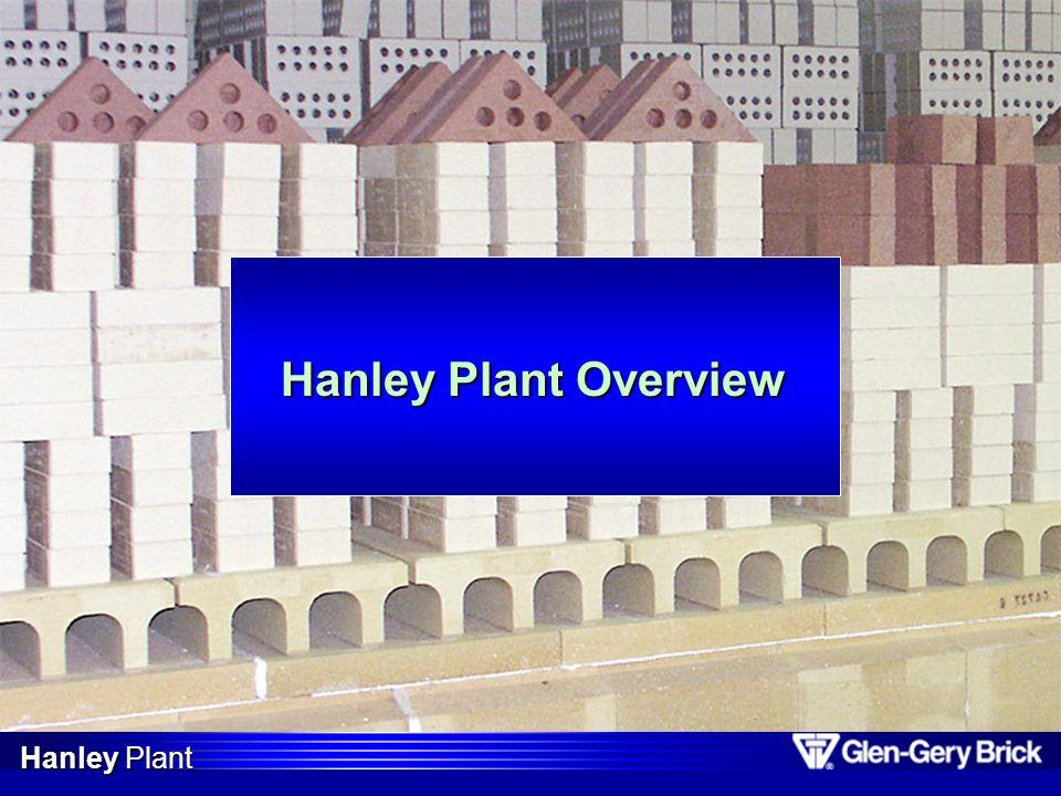 Hanley 2002 Market Overview 1.New York10,018,00028.8% 2.Pennsylvania3,700,00010.7% 3.Illinois2,737,000 7.9% 4.Maryland2,576,000 7.4% 5.Ohio2,461,000 7.1% 6.Michigan2,331,000 6.7% Primary markets / brick shipments Total Shipments = 34,745,000 Total Production = 31,683,000 Hanley Plant