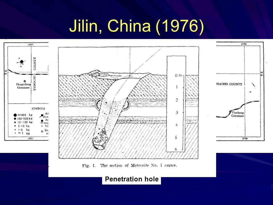 Jilin, China (1976) Penetration hole