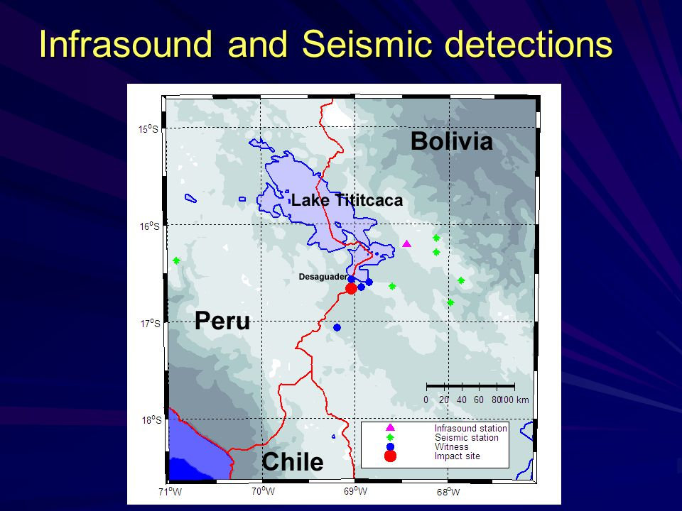 Infrasound and Seismic detections