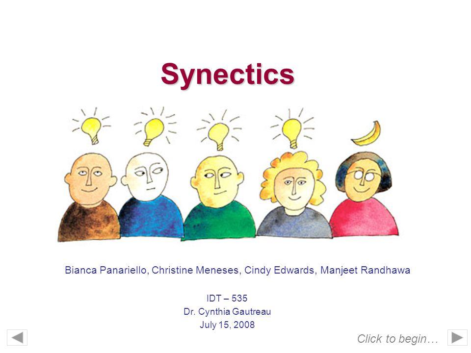 Synectics IDT – 535 Dr.