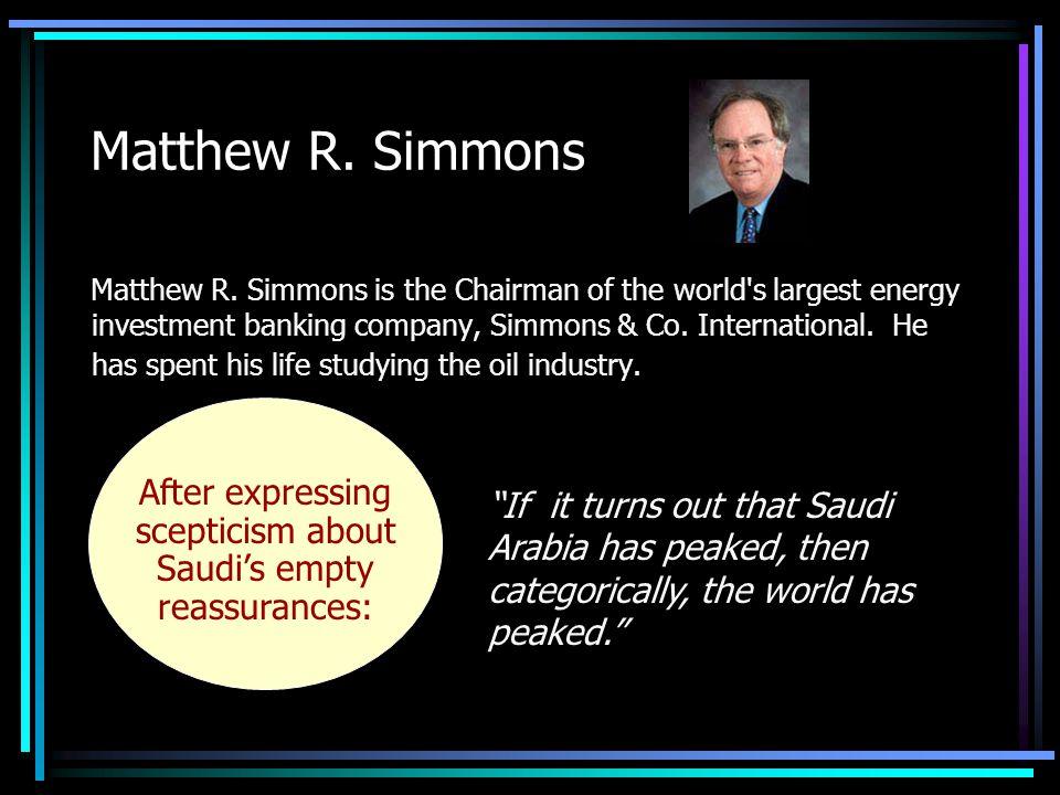 Matthew R. Simmons Matthew R.