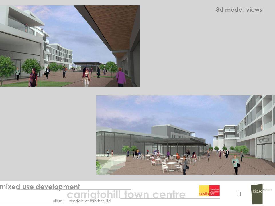 3d model views mixed use development carrigtohill town centre client - rossdale enterprises ltd 11