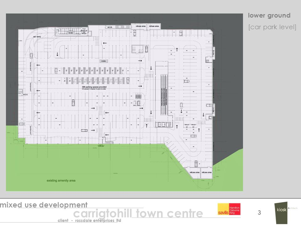 lower ground mixed use development carrigtohill town centre client - rossdale enterprises ltd 3 [car park level]
