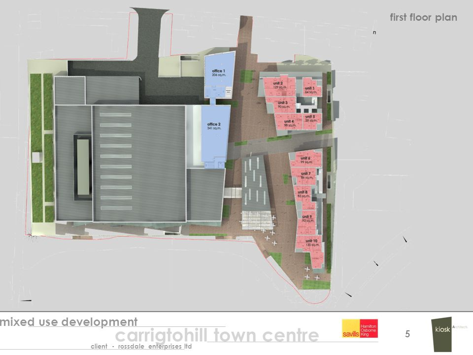 first floor plan mixed use development carrigtohill town centre client - rossdale enterprises ltd 5