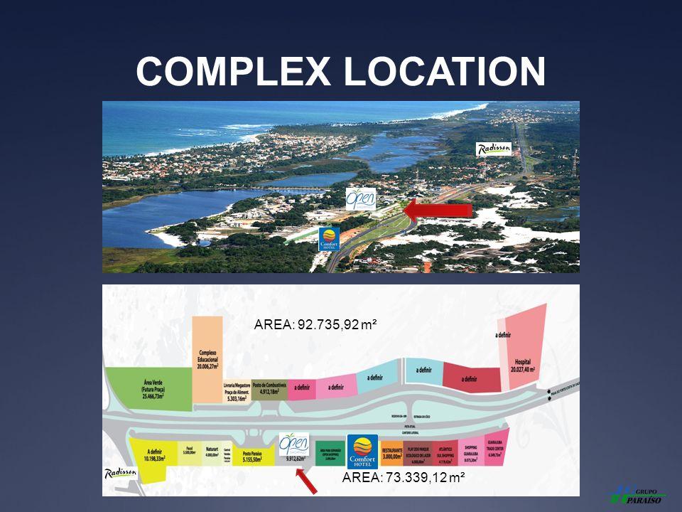 COMPLEX LOCATION AREA: 92.735,92 m² AREA: 73.339,12 m²