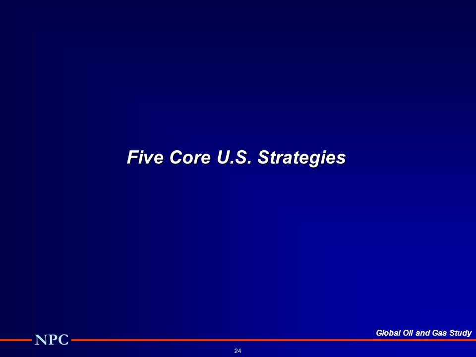 Global Oil and Gas Study NPC 24 Five Core U.S. Strategies