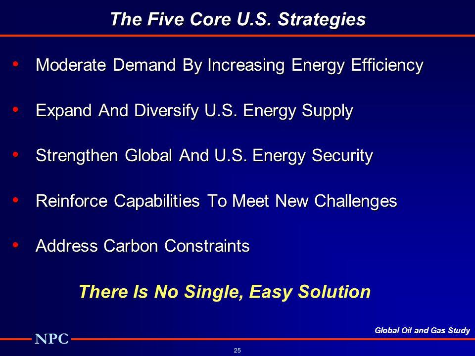 Global Oil and Gas Study NPC 25 The Five Core U.S.