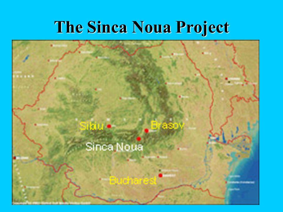The Sinca Noua Project Sinca Noua is a small village (1,800 inhabitants, 9,000 ha surface, altitude 600- 1,600 m) at the foot of the Carpathian Mounta
