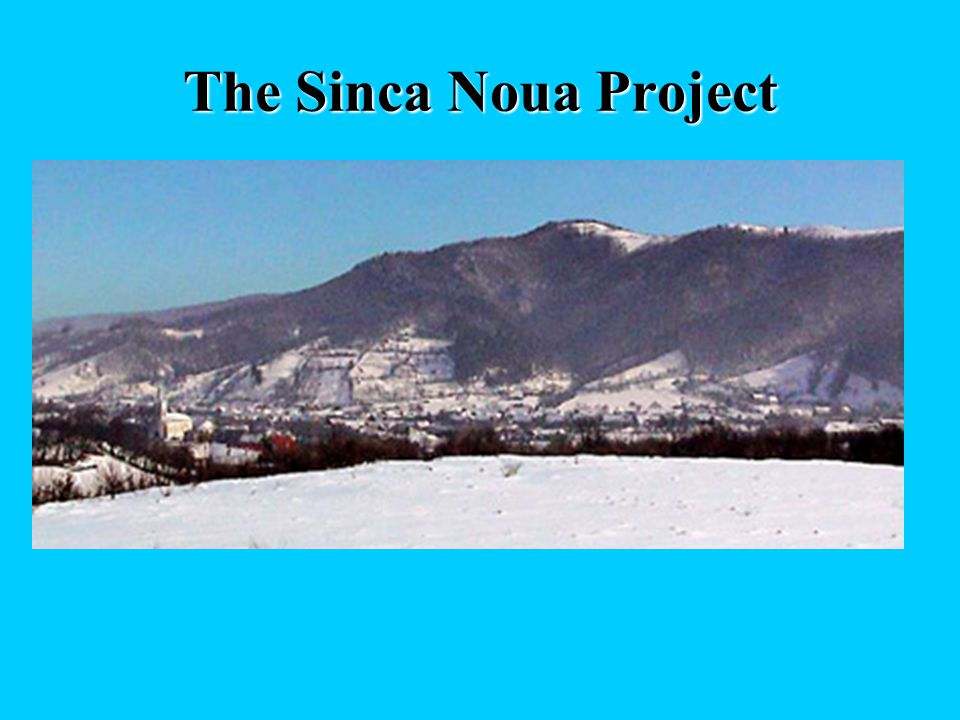 The Sinca Noua Project The project is in its very early stage, but intends to create a model area, where conservation of nature and sustainable econom