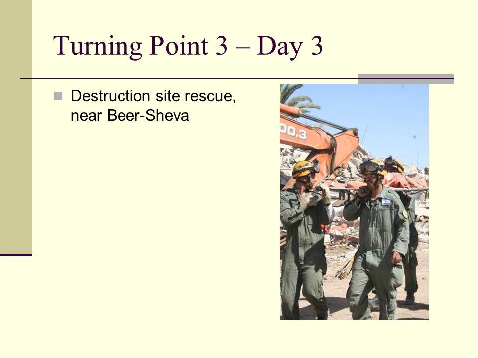 Destruction site rescue, near Beer-Sheva