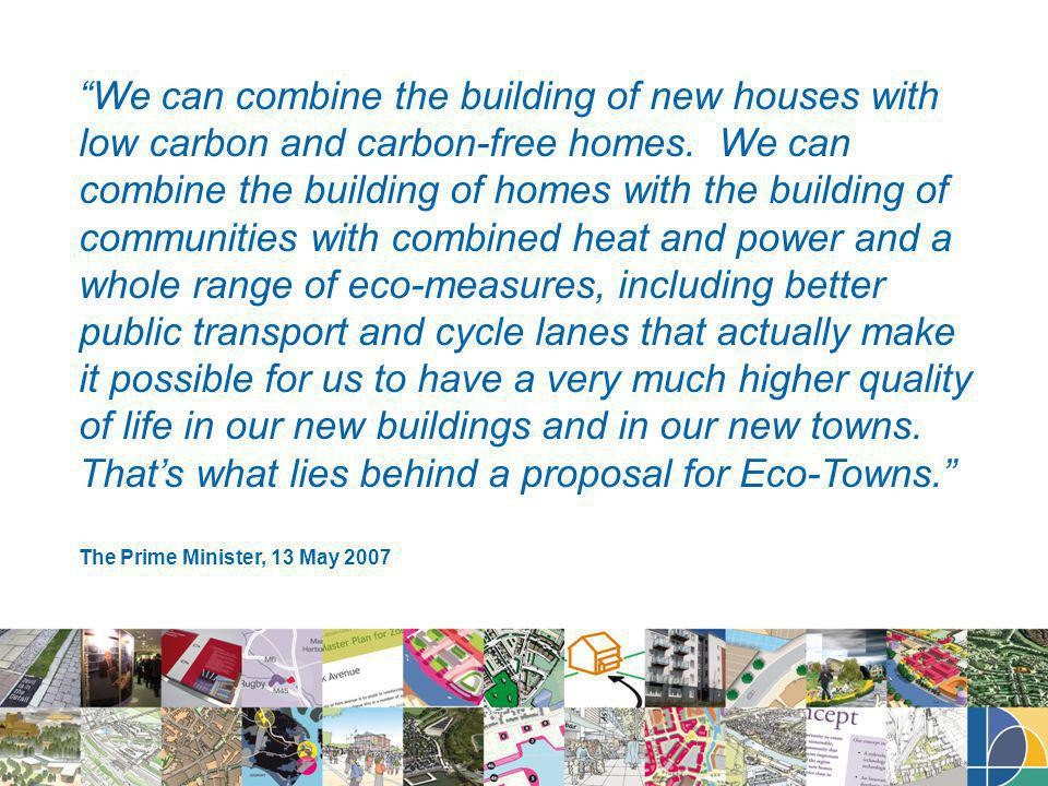 We can combine the building of new houses with low carbon and carbon-free homes.