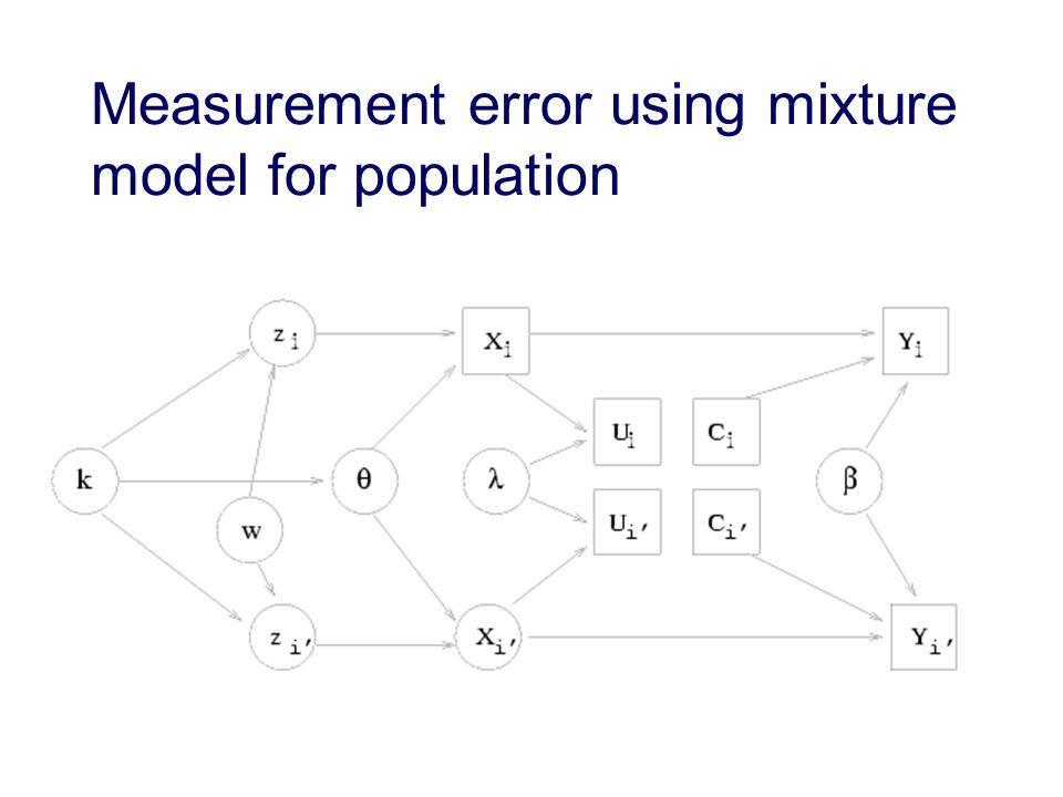 Measurement error using mixture model for population