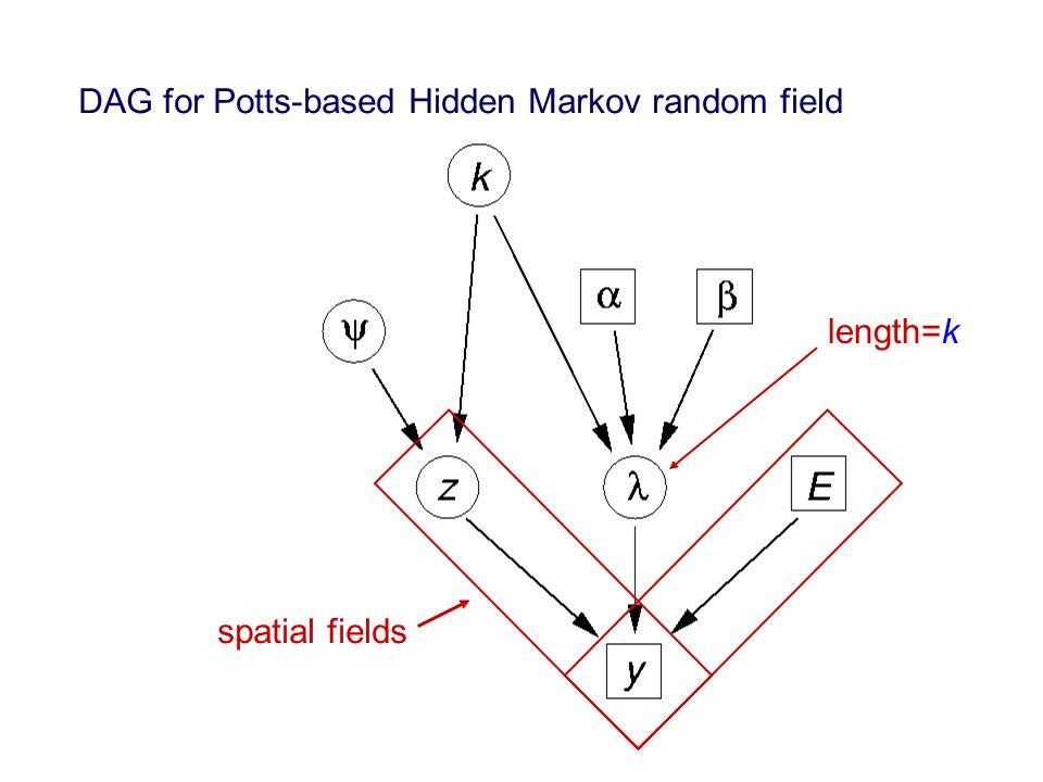 DAG for Potts-based Hidden Markov random field spatial fields length=k