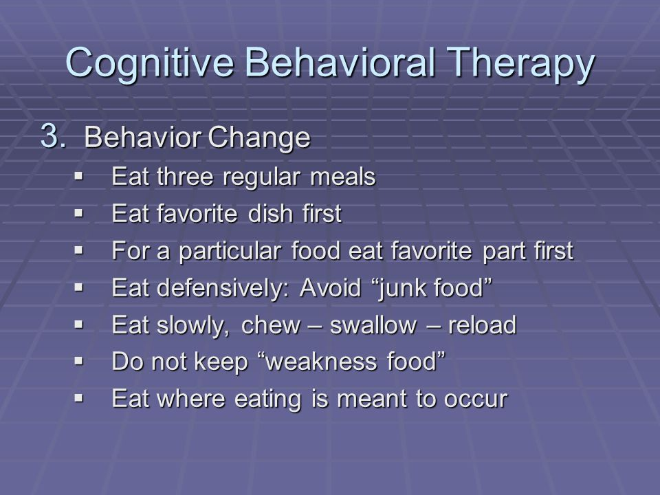 Cognitive Behavioral Therapy 3.