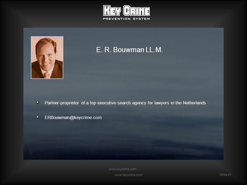 Slide 41 www.keycrime.com Slide 41 www.keycrime.com E.