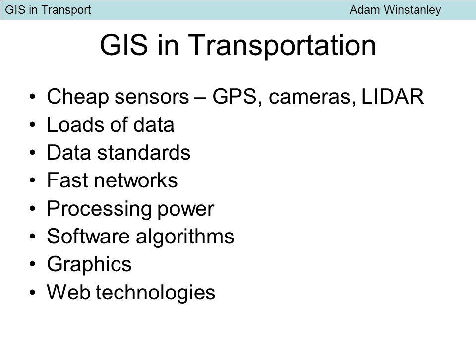 GIS in Transport Adam Winstanley TAZ from Neighbourhood units