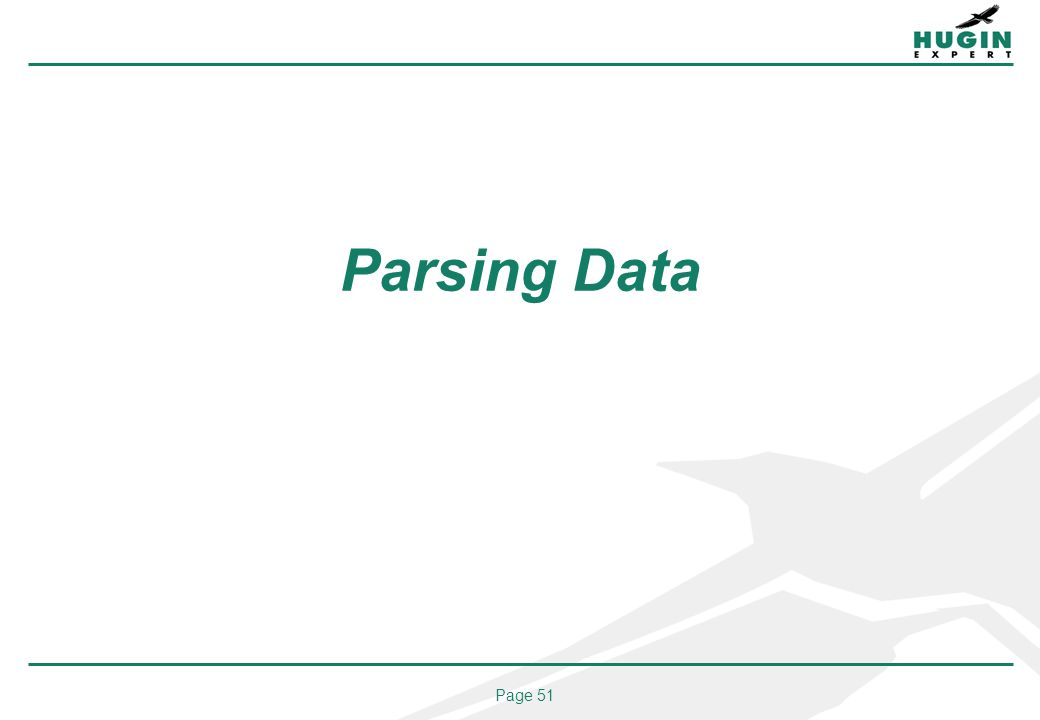 Page 51 Parsing Data