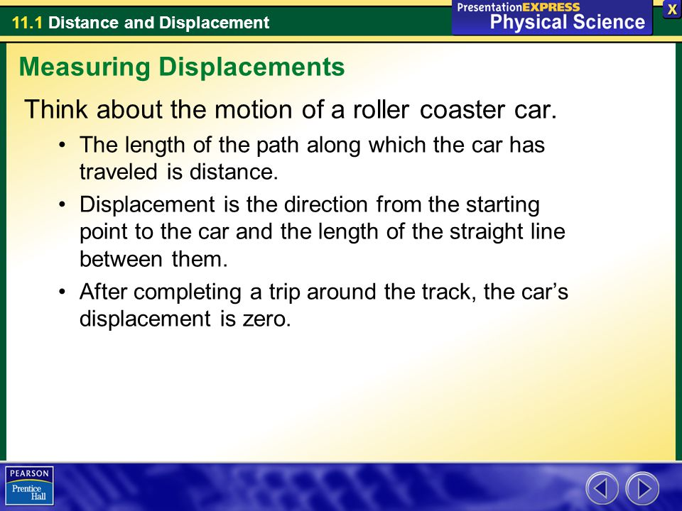 11.1 Distance and Displacement How do you add displacements.