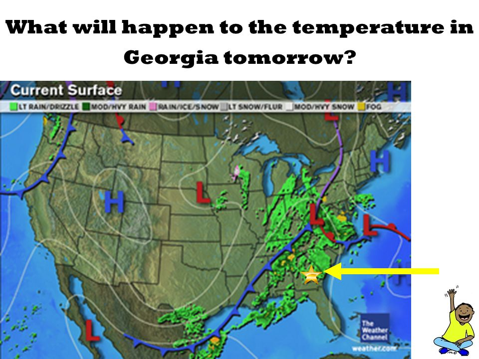 What will happen to the temperature in Georgia tomorrow