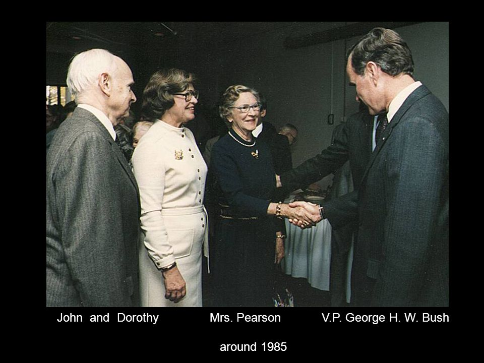 John and Dorothy Mrs. Pearson V.P. George H. W. Bush around 1985