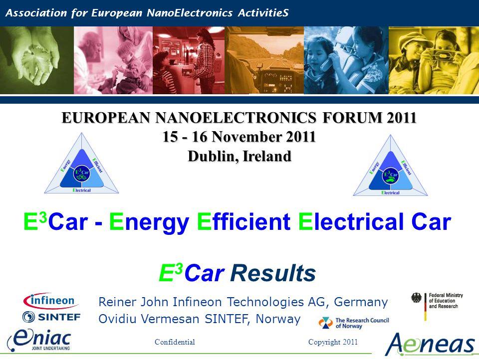 Reiner John Infineon Technologies AG, Germany Ovidiu Vermesan SINTEF, Norway E 3 Car - Energy Efficient Electrical Car E 3 Car Results EUROPEAN NANOEL