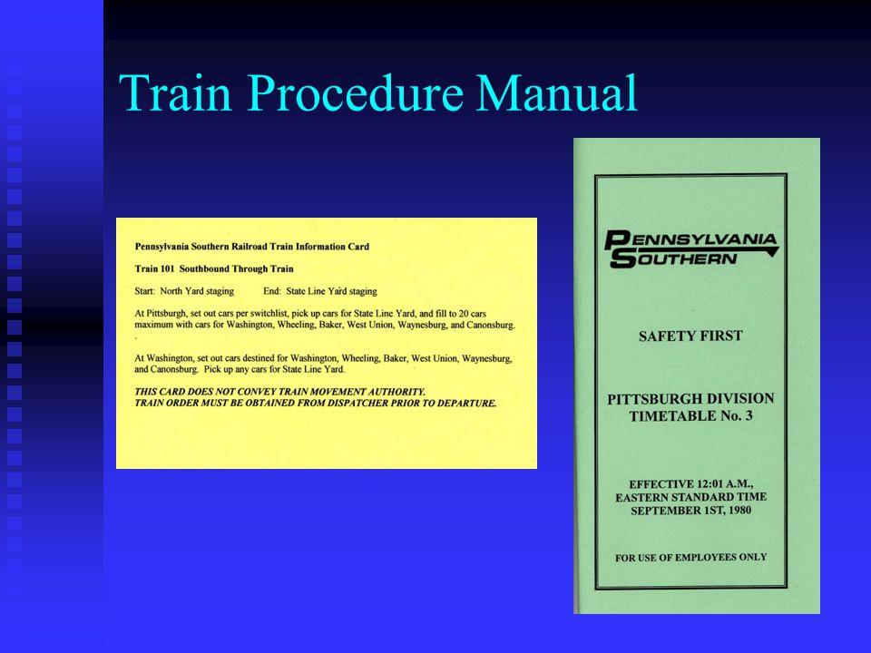 Train Procedure Manual