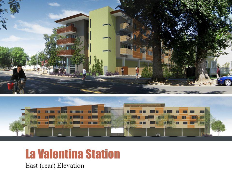 La Valentina Station East (rear) Elevation