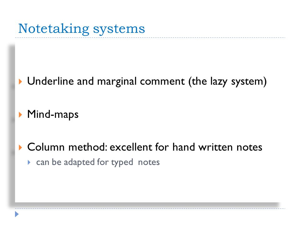 Note taking: Mind-Maps