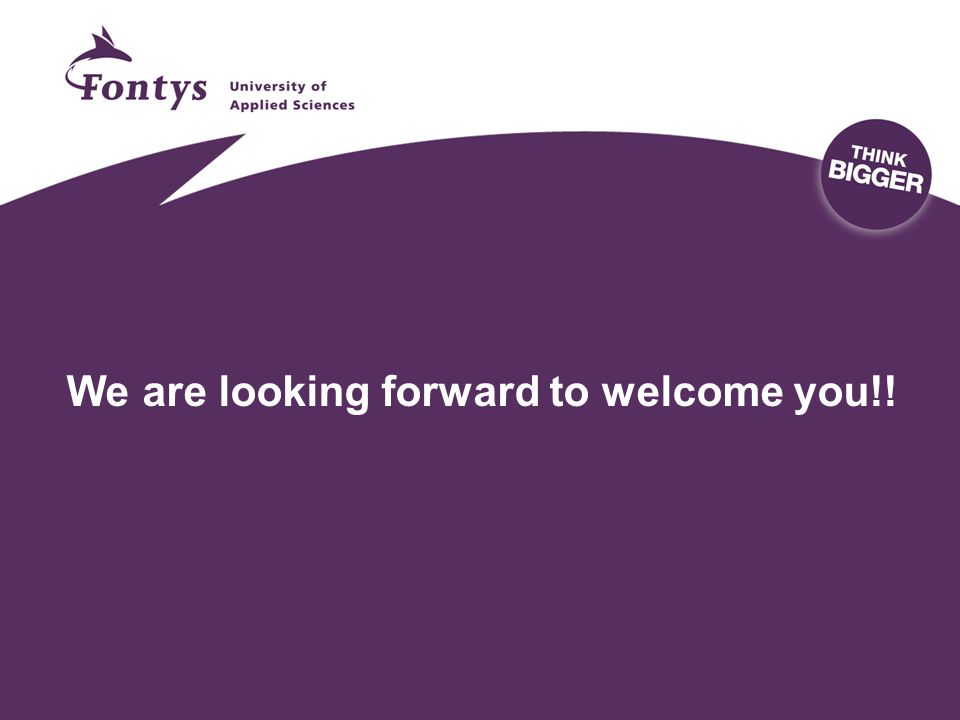We are looking forward to welcome you!!