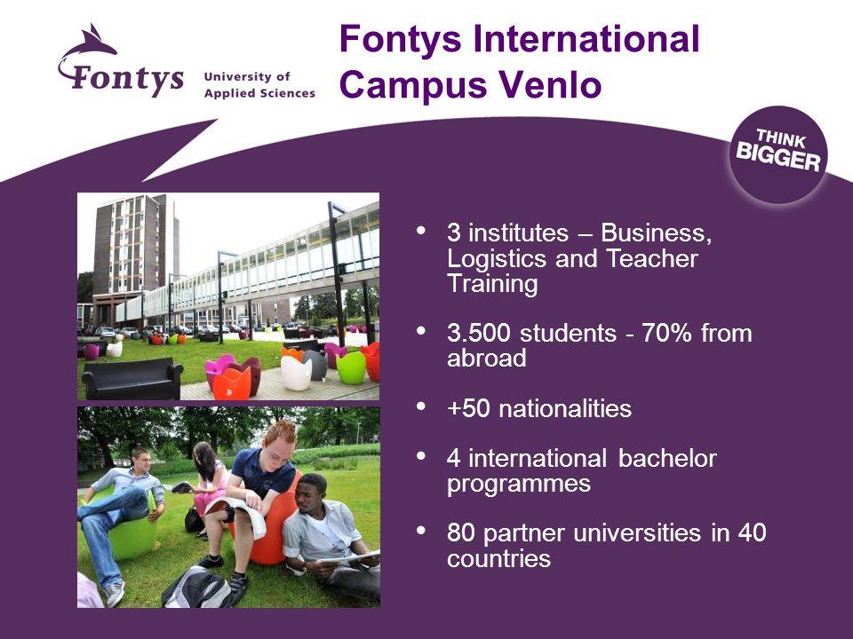 International Business School International Business & Management Studies International Business Economics International Marketing Food & Flower Management (only at Fontys)