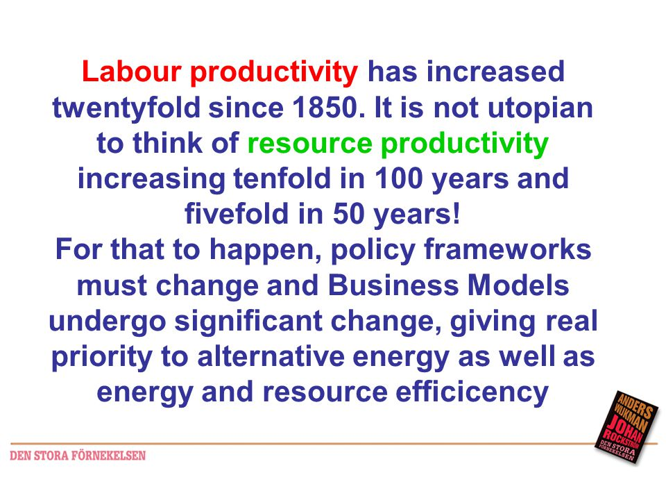 Labour productivity has increased twentyfold since 1850.