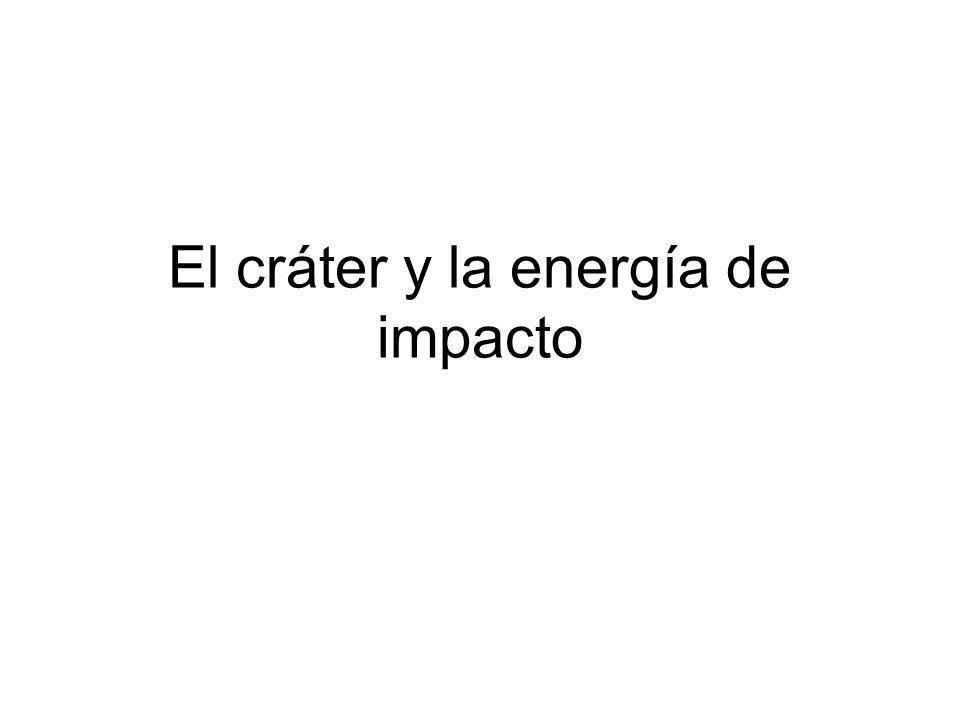 El cráter y la energía de impacto