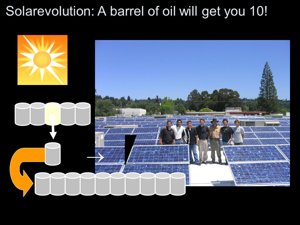 Solarevolution: A barrel of oil will get you 10!