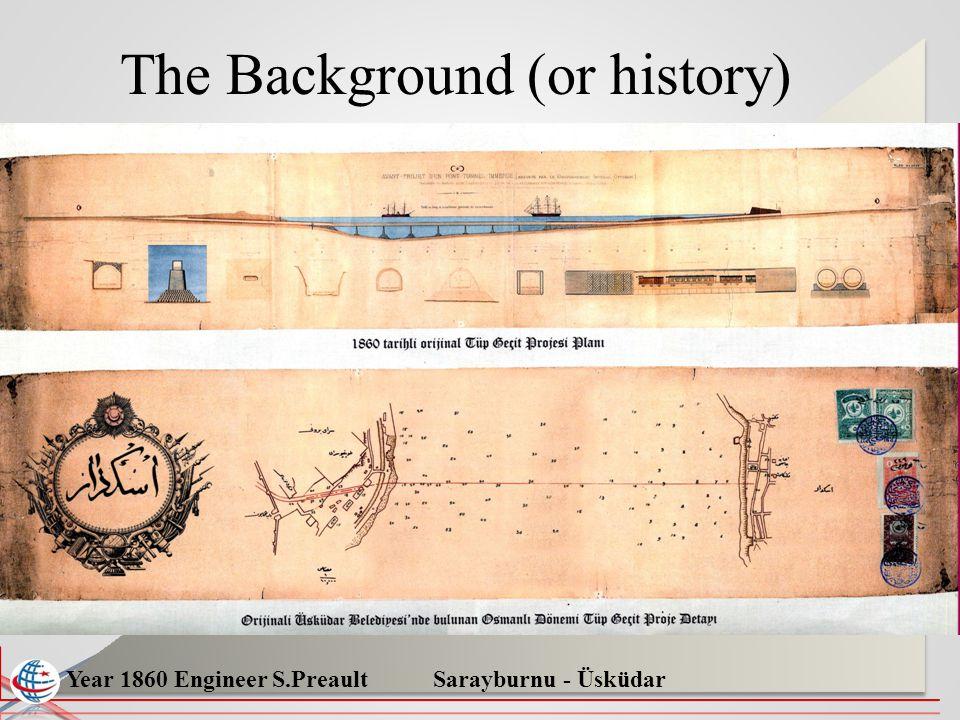 Year 1860 Engineer S.Preault Sarayburnu - Üsküdar The Background (or history)