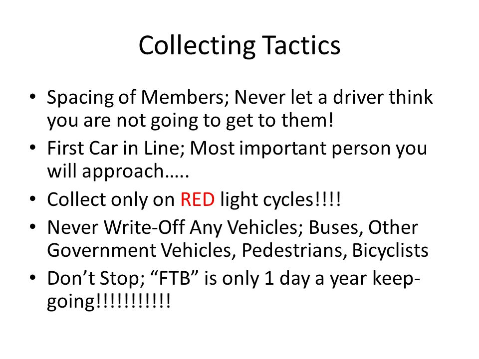 Collecting Tactics Collect only on RED light cycles!!!!.