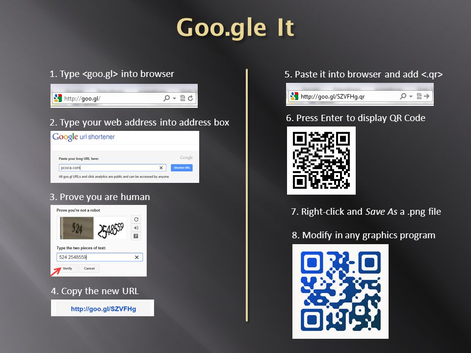 6. Press Enter to display QR Code 4. Copy the new URL 5.