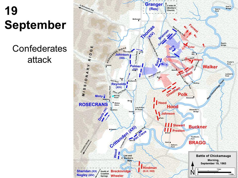 19 September Confederates attack