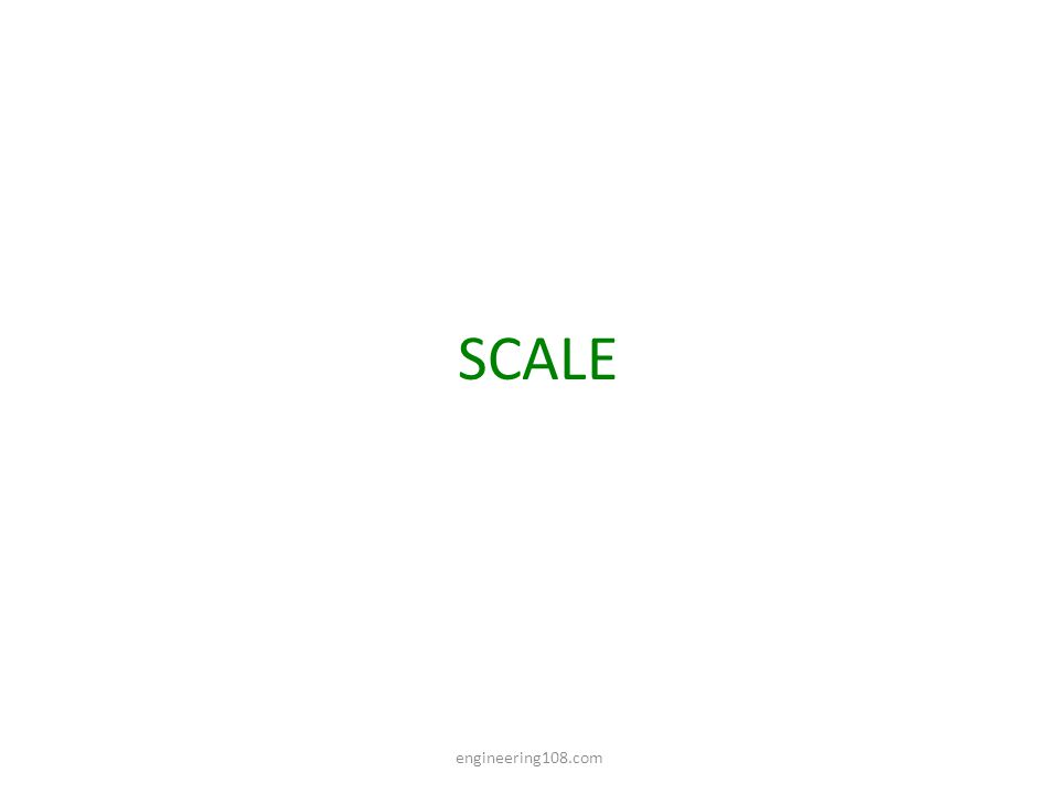 COMPARATIVE SCALES: These are the Scales having same R.F.
