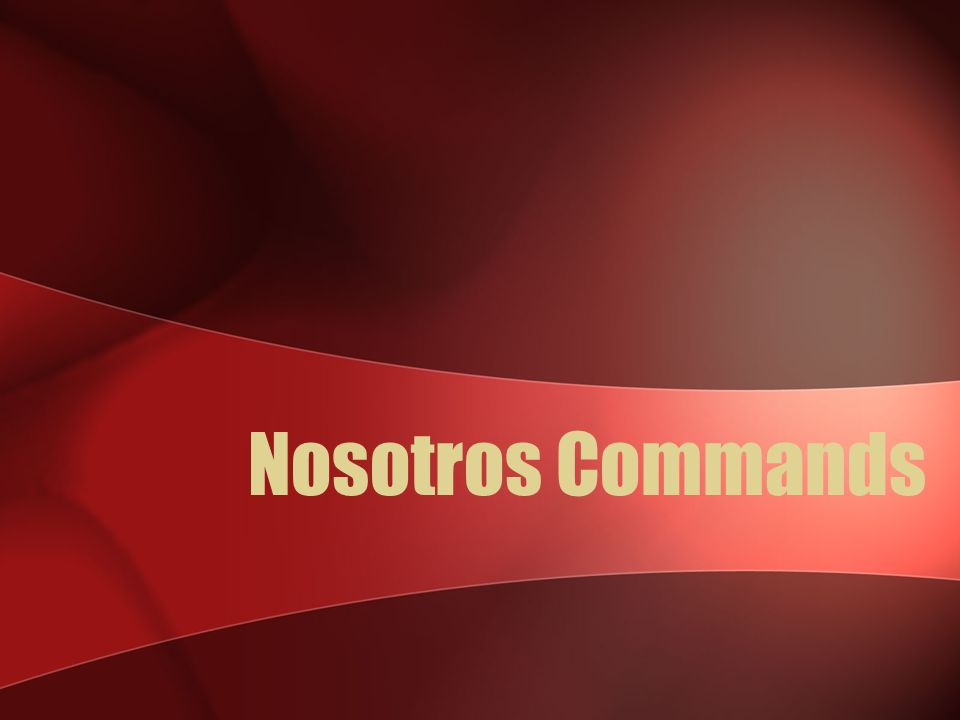 Ud. and Uds. Commands Ser - Negative tú command? No seas Negative Ud. command? No sea Negative Uds. command? No sean