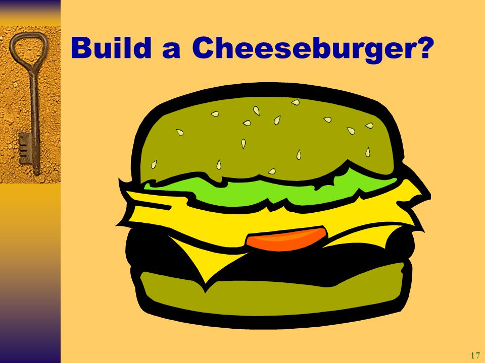 17 Build a Cheeseburger
