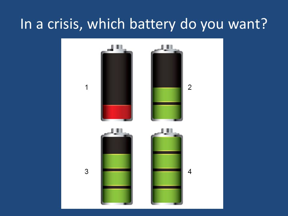In a crisis, which battery do you want? 1.1.2.2. 3.3.4.4.