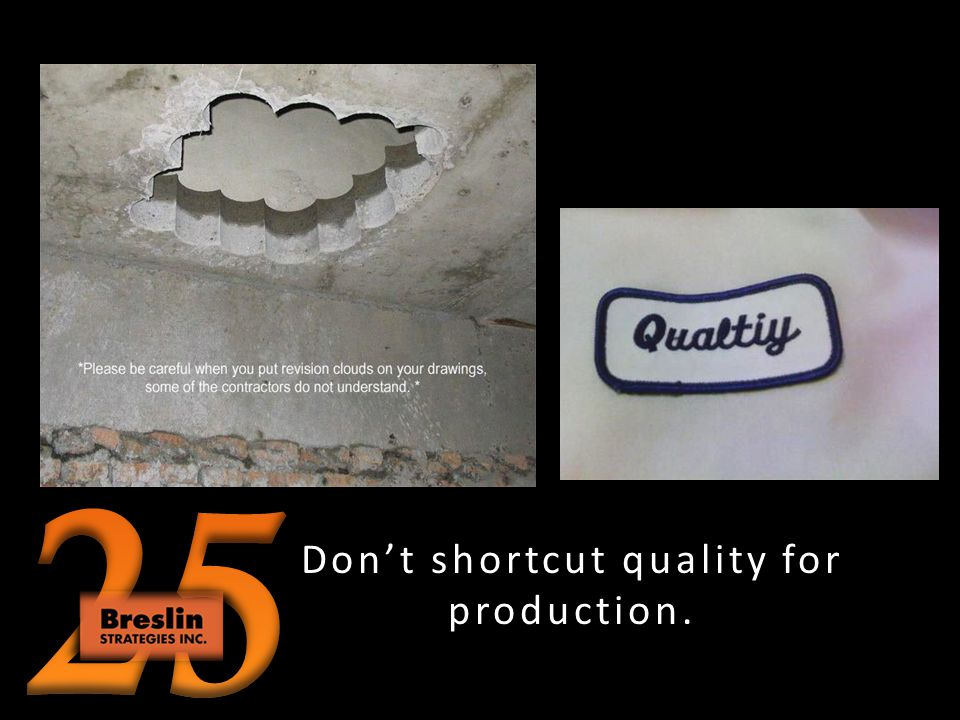 Dont shortcut safety for production.