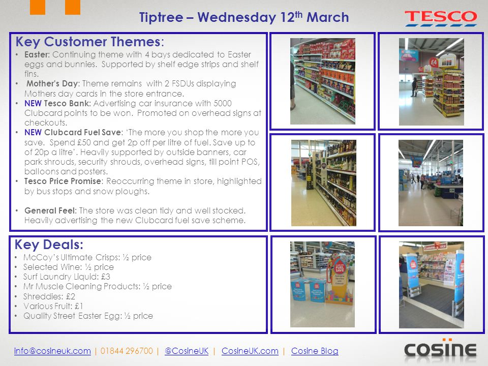 Key Customer Themes : Easter: Continuing theme with 4 bays dedicated to Easter eggs and bunnies.