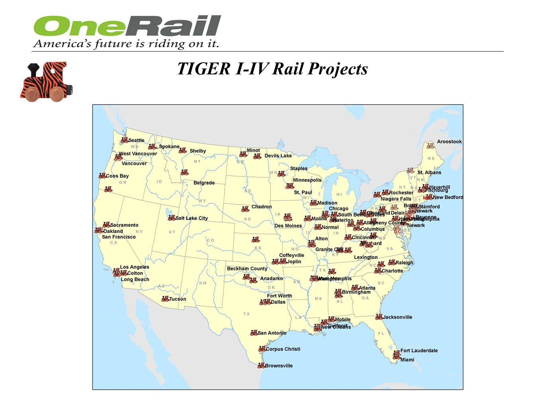 TIGER I-IV Rail Projects
