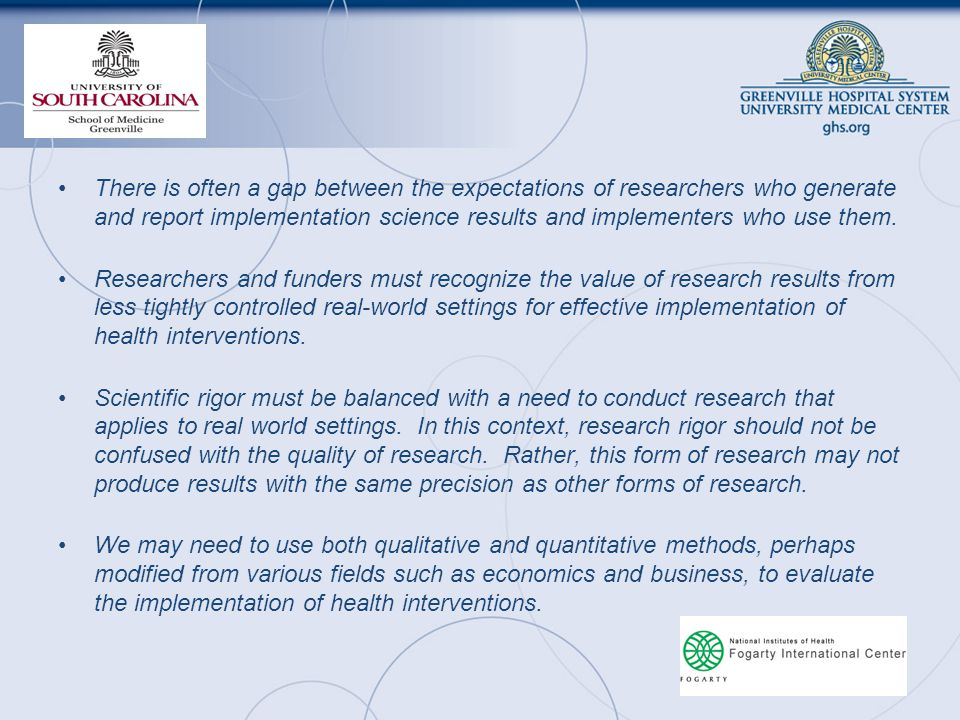 There is often a gap between the expectations of researchers who generate and report implementation science results and implementers who use them.