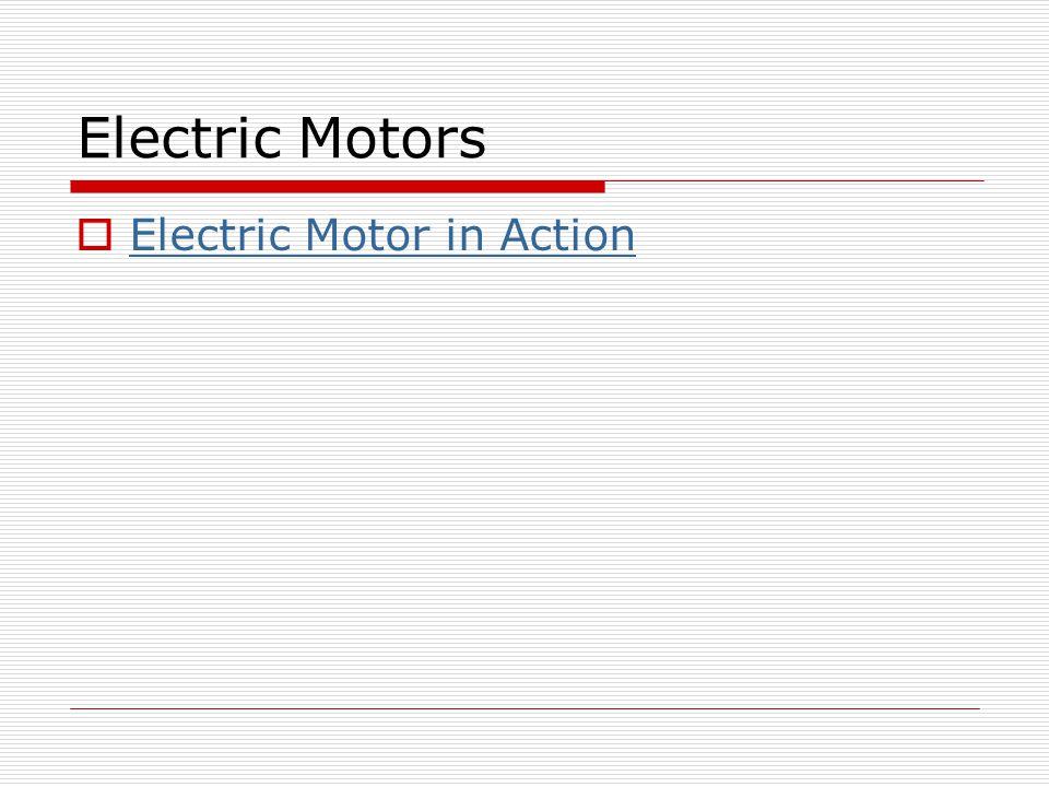 Electric Motor in Action Electric Motor in Action