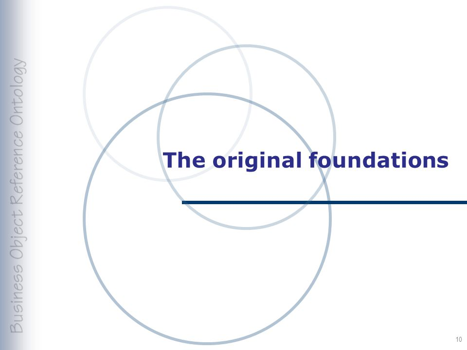 The original foundations 10